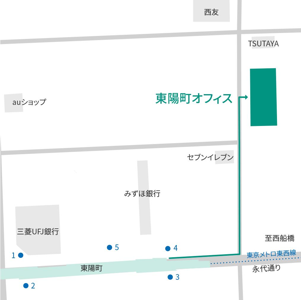 東陽町オフィス-周辺地図