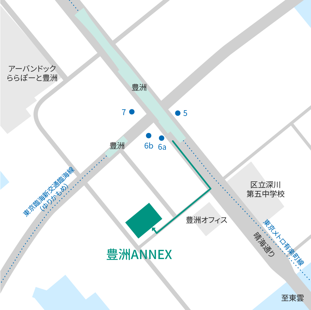 豊洲ANNEX-周辺地図