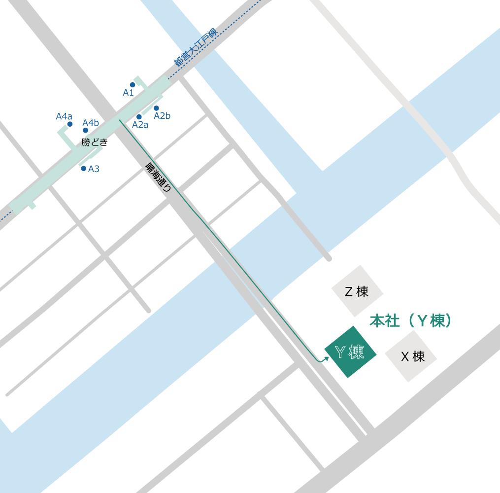 本社(Y棟)-周辺地図