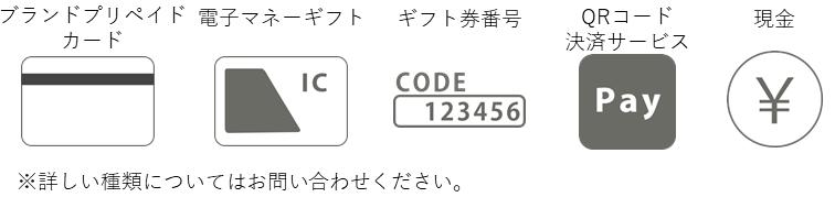 ブランドプリペイドカード 電子マネーギフト ギフト券番号 QRコード決済サービス 現金