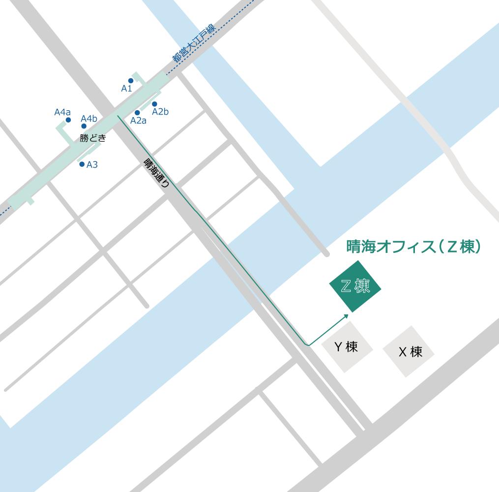 晴海オフィス(Z棟)-周辺地図